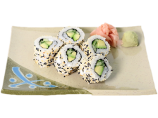 Cucumber and Avocado Maki Roll