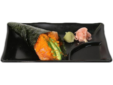 Two Salmon and Avocado Hand Roll