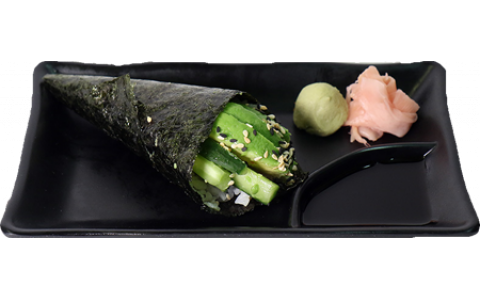 Cucumber and Avocado Hand Roll