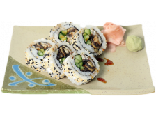 Grilled Eel and Cucumber Maki Roll
