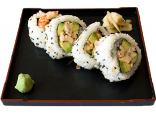 Crayfish and Avocado Maki Roll