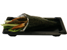 Grilled Eel and Cucumber Hand Roll