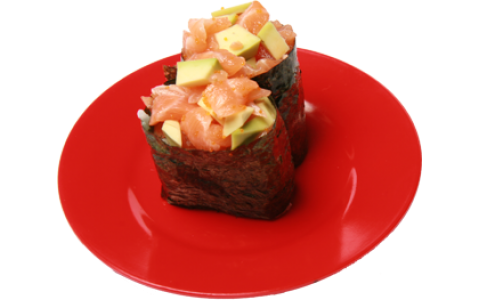 Salmon and Avocado Gunkan
